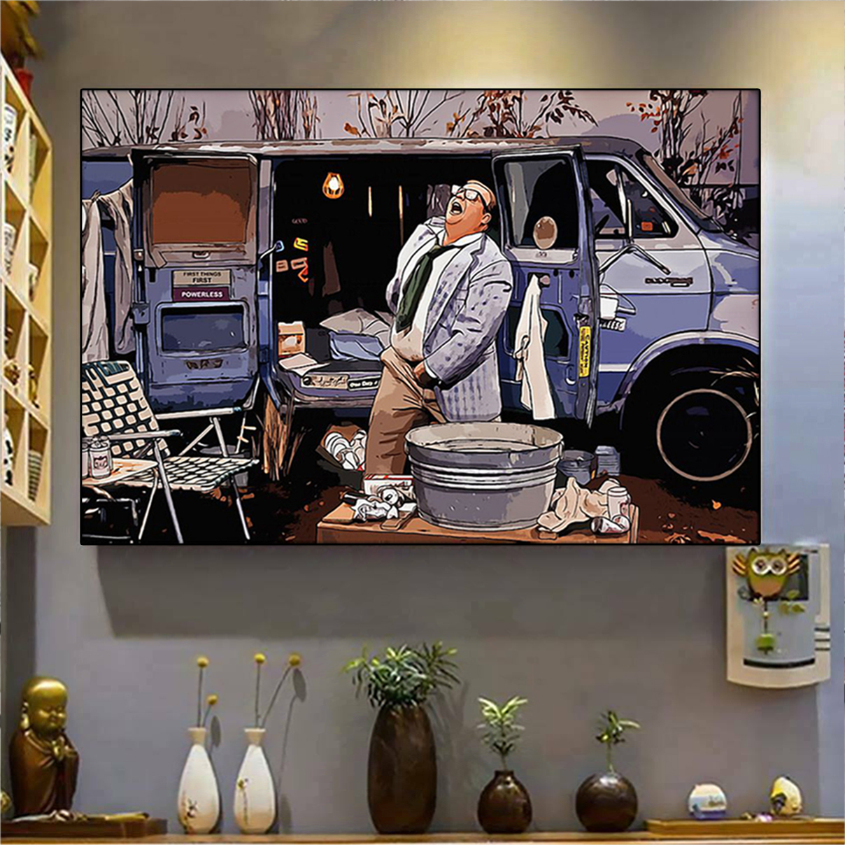 Living in a van down by the river poster A1