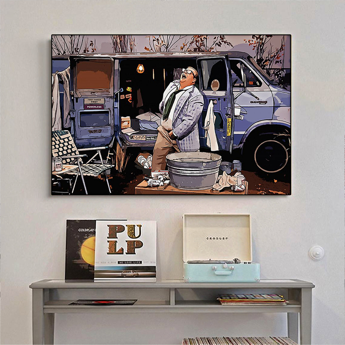 Living in a van down by the river poster A2