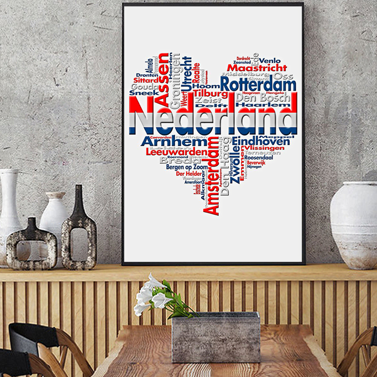Nederland heart cities poster A1