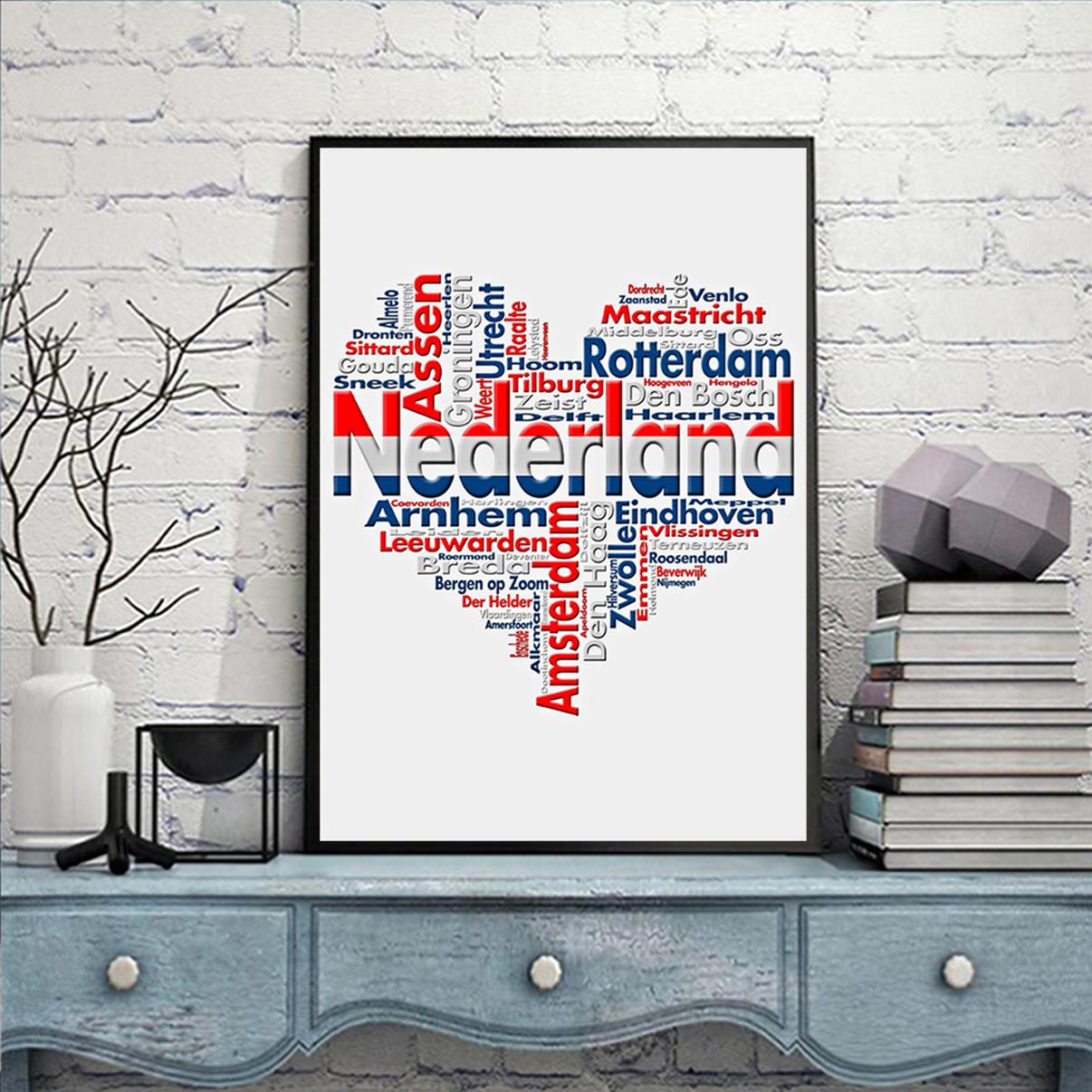 Nederland heart cities poster A2