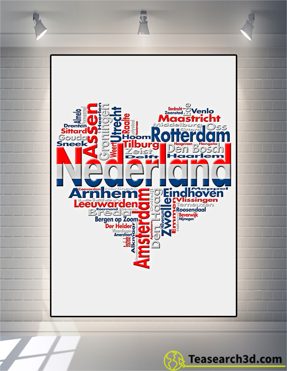 Nederland heart cities poster
