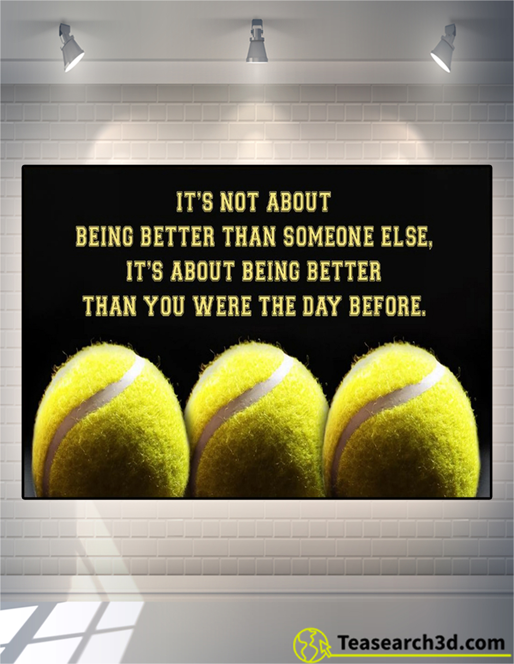 Personalized custom name tennis it's not about poster