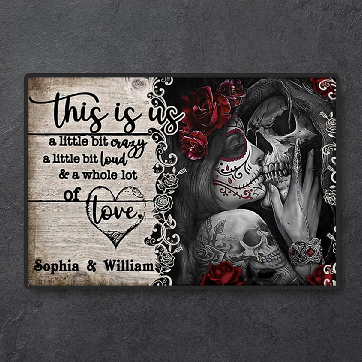 Personalized jack and sally this is us a little bit crazy poster A1