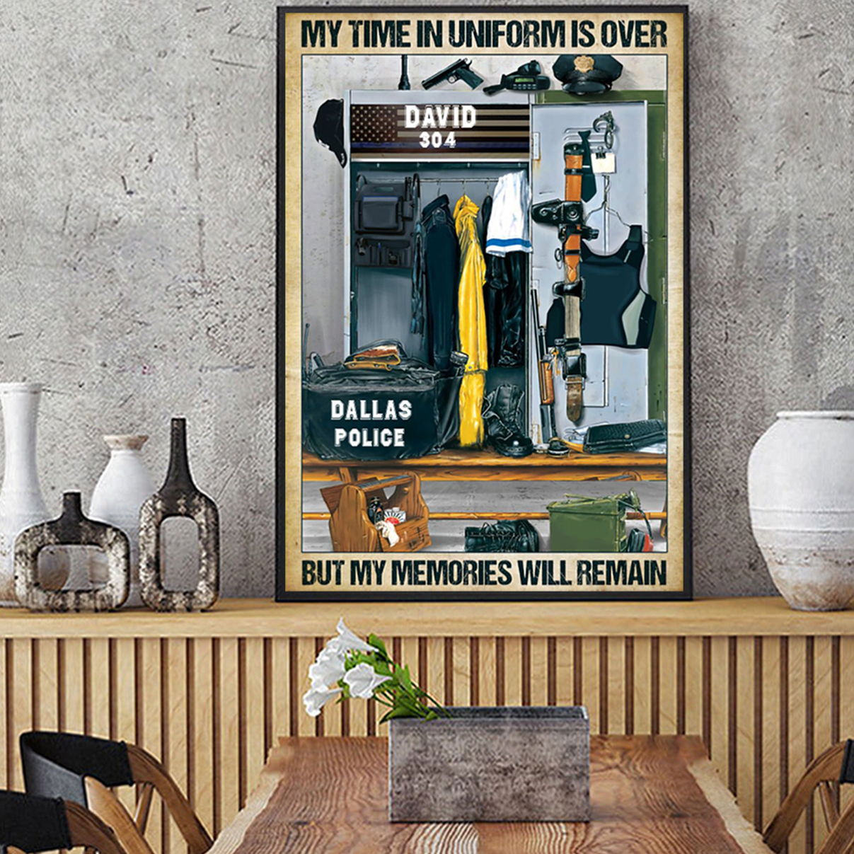 Police my time in uniform is over poster A1