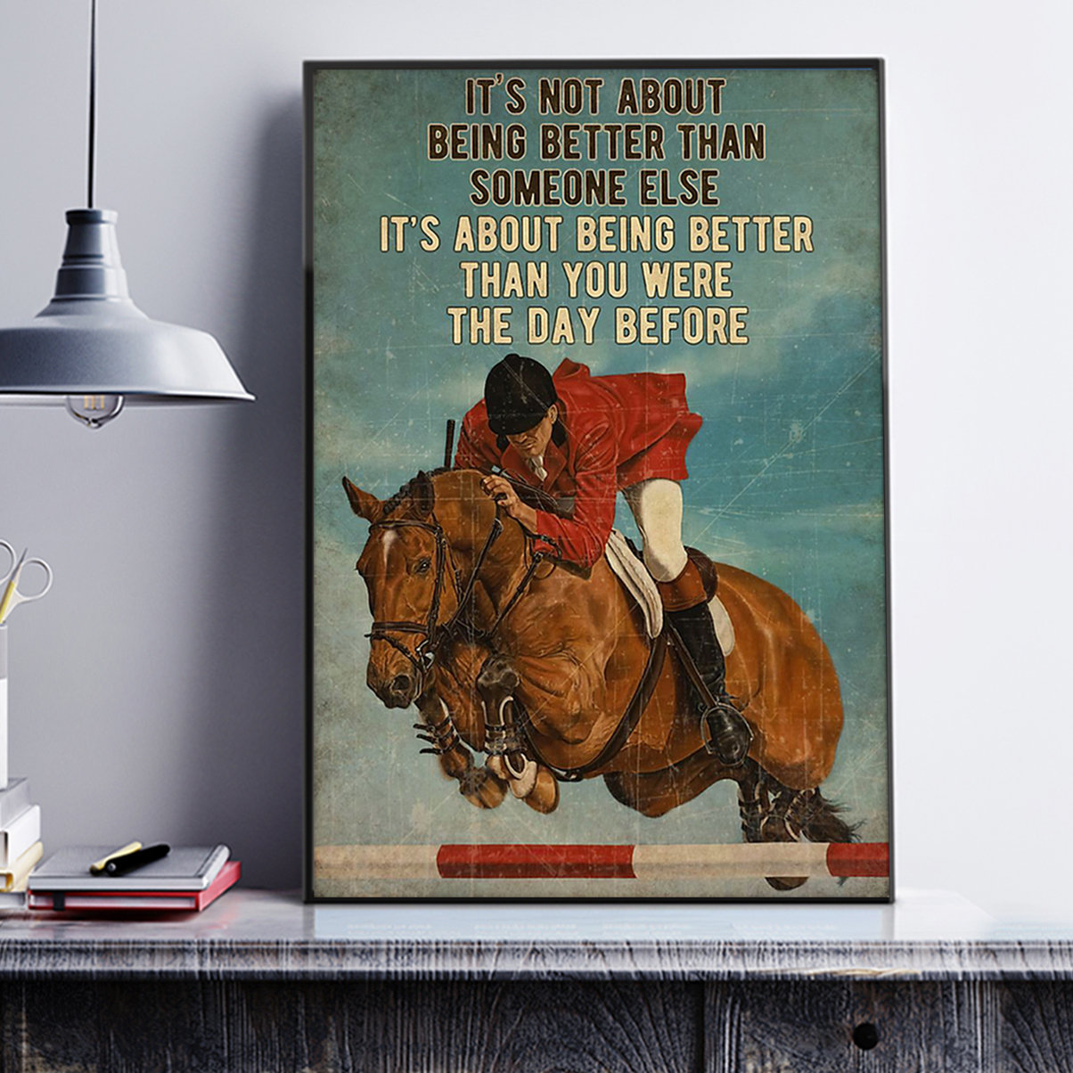 Show jumping it's not about being better than someone else poster A1