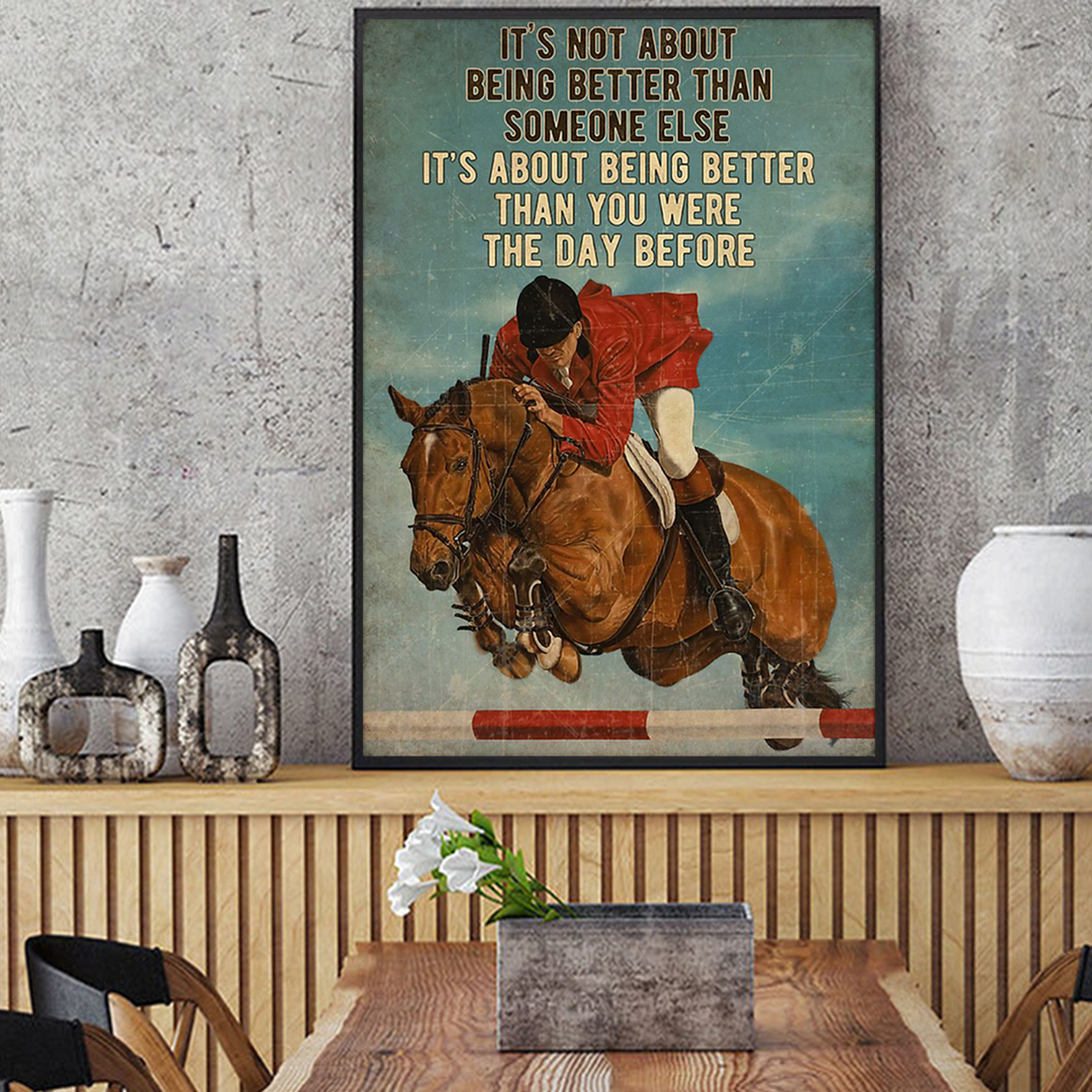 Show jumping it's not about being better than someone else poster A2