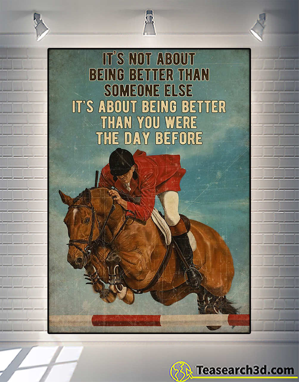 Show jumping it's not about being better than someone else poster
