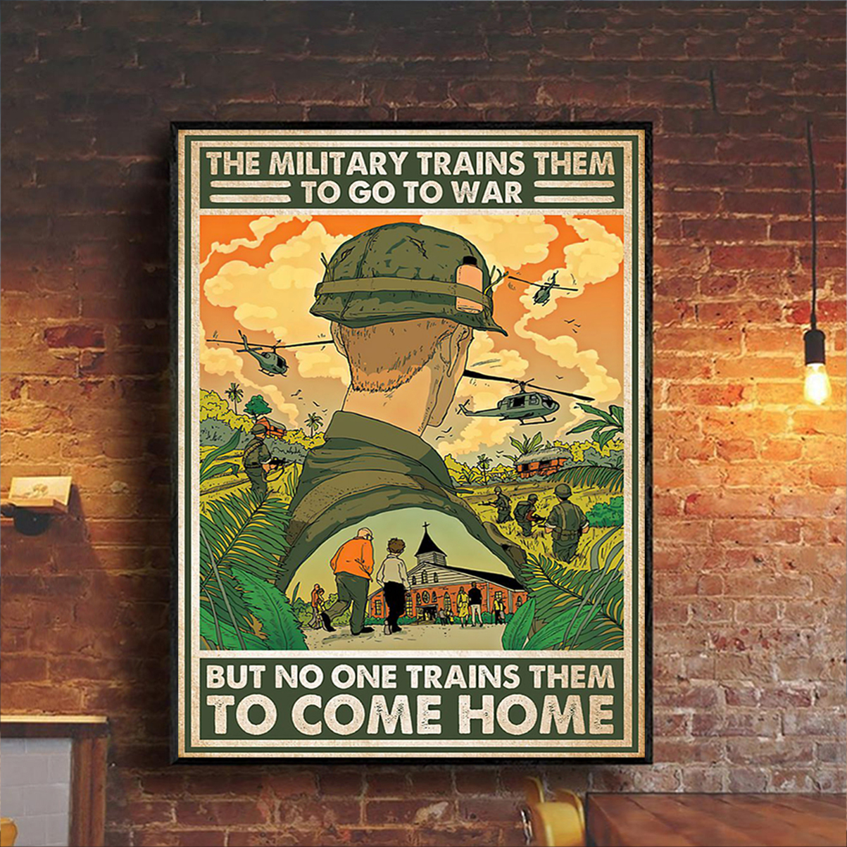 The military trains them to go to war poster A1