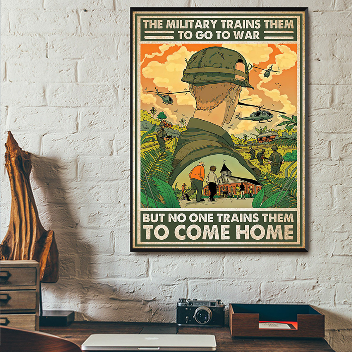 The military trains them to go to war poster A2