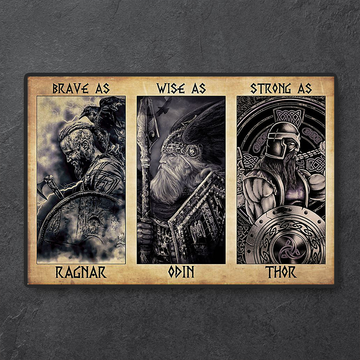Viking daddy brave as ragnar poster A1