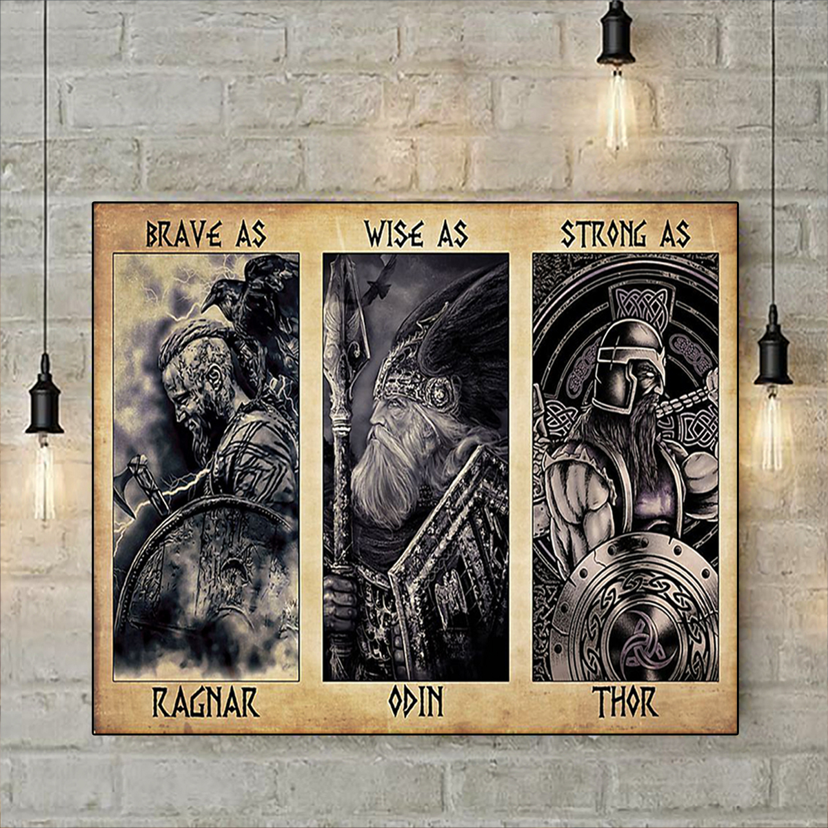 Viking daddy brave as ragnar poster A3