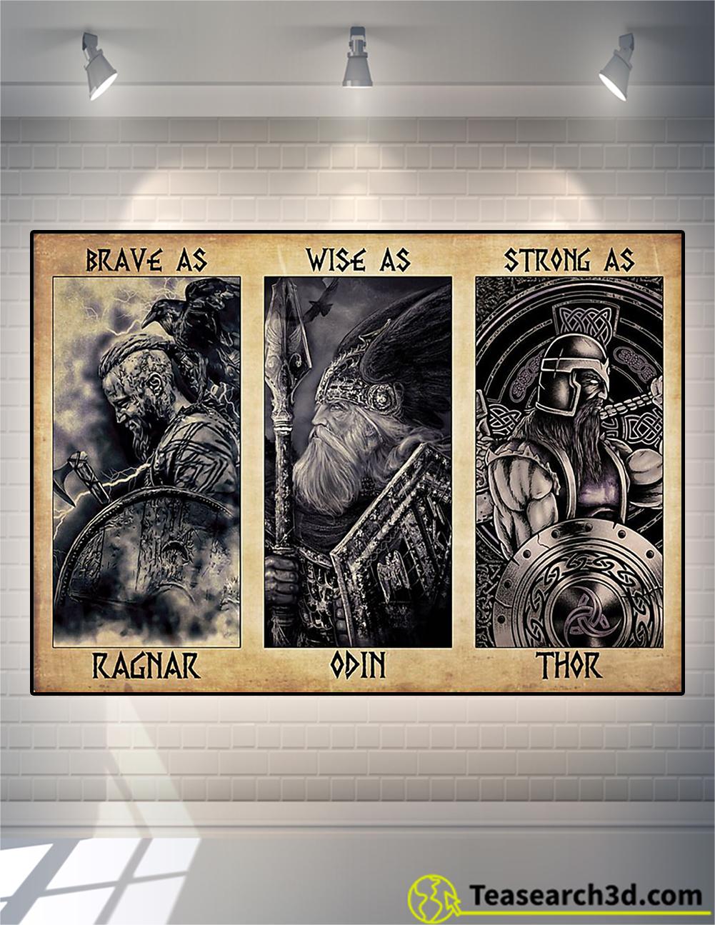 Viking daddy brave as ragnar poster