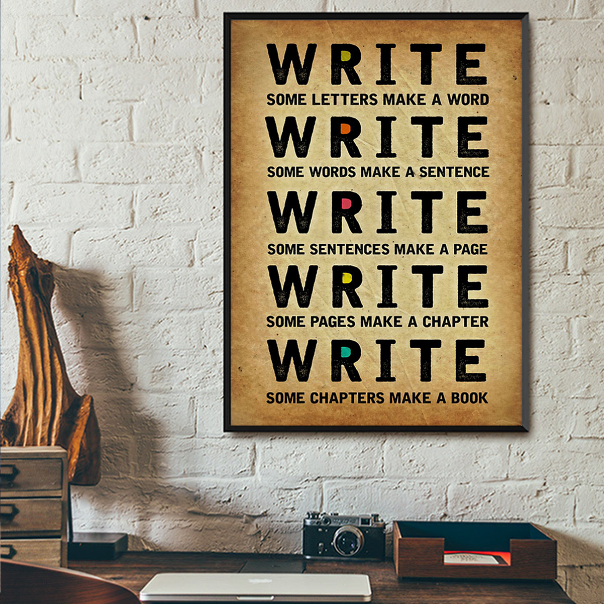 Write some letters make a word poster A2