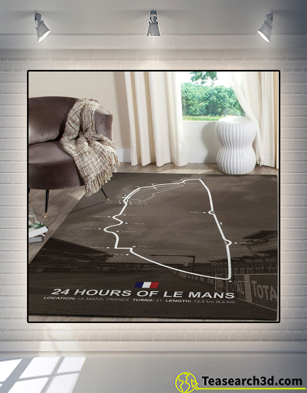 24 hours of le mans rug large