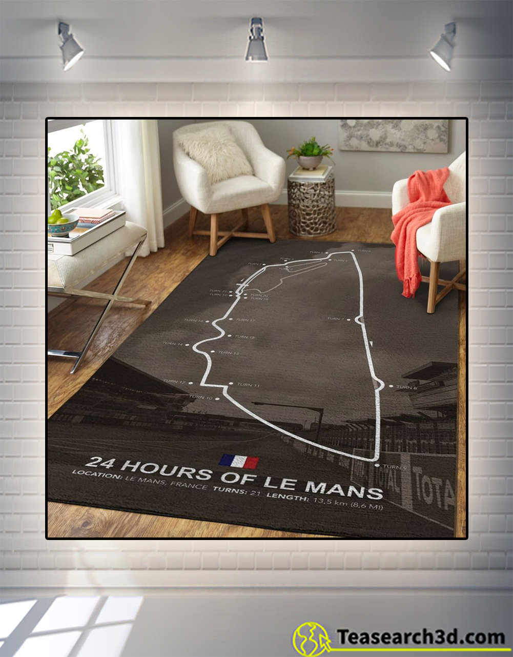 24 hours of le mans rug