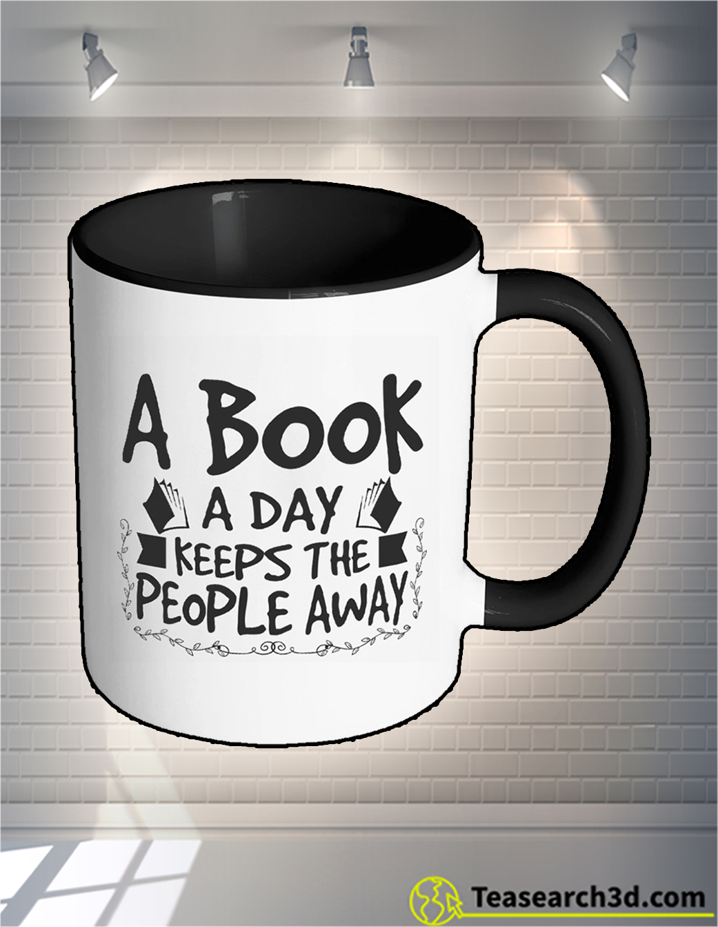 A book a day keeps the people away mug 11oz