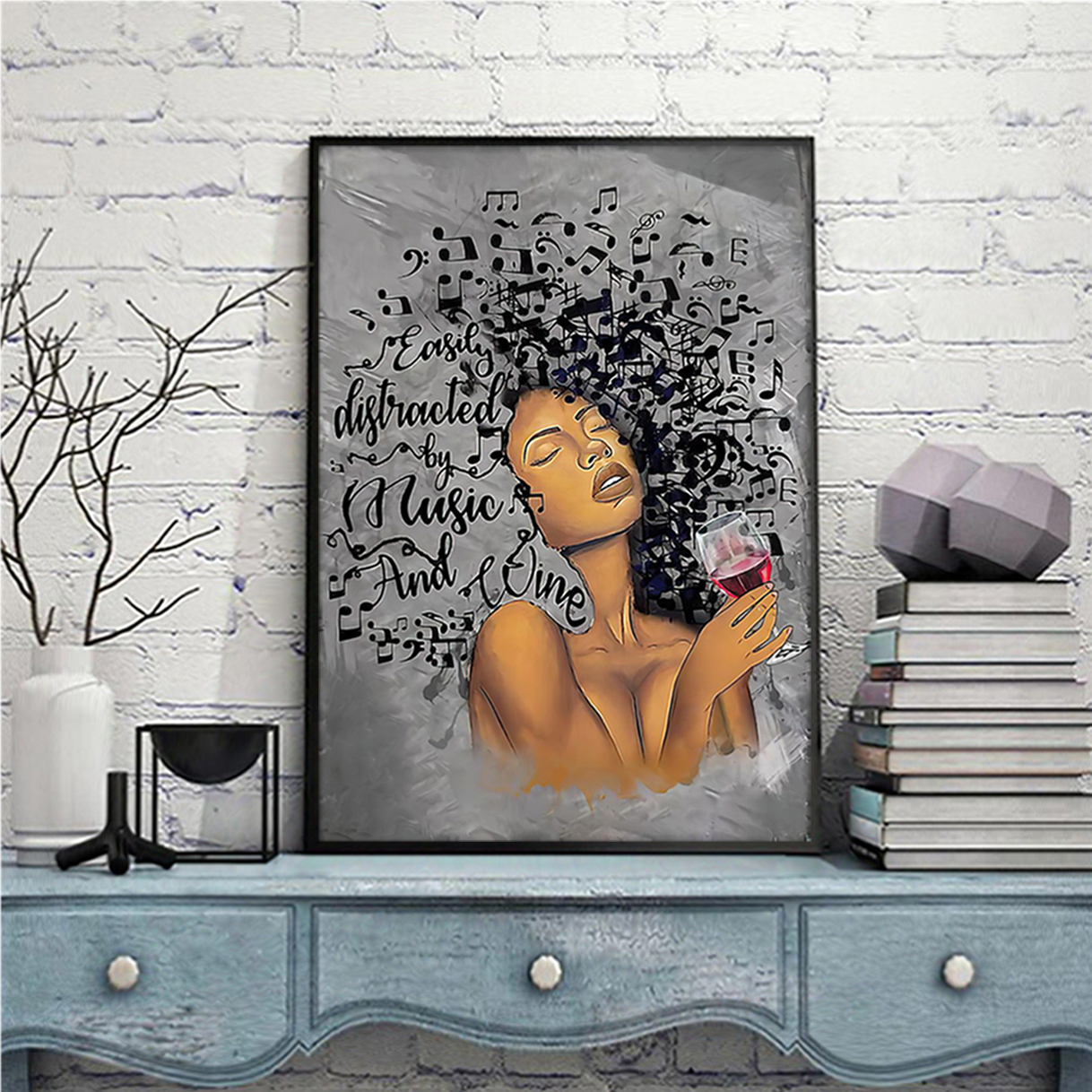 African american girl Lose your mind find your soul poster A1