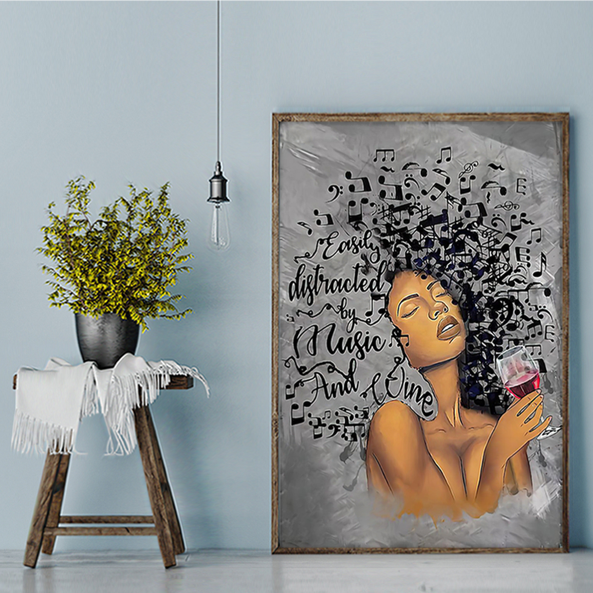 African american girl Lose your mind find your soul poster A3