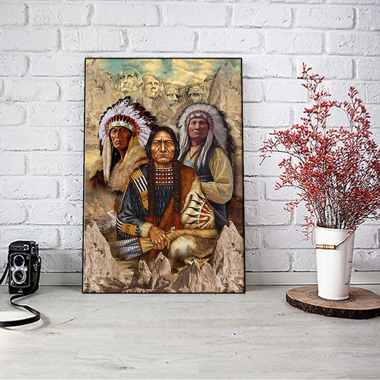 BTG Indigenous Man Native American poster