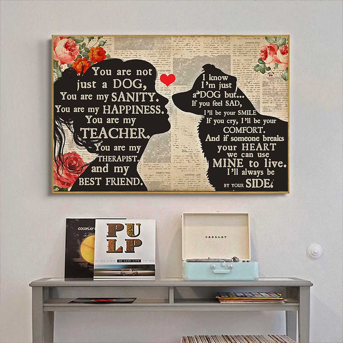 Border Collie girl you are not just a dog poster A3