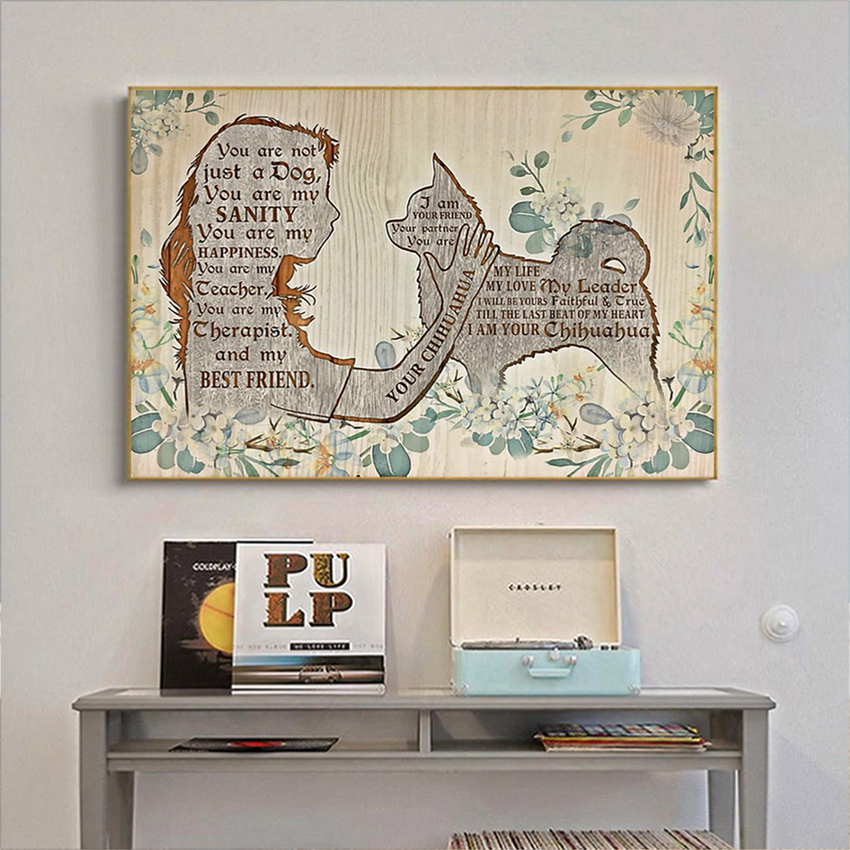 Chihuahua I am your friend poster A2