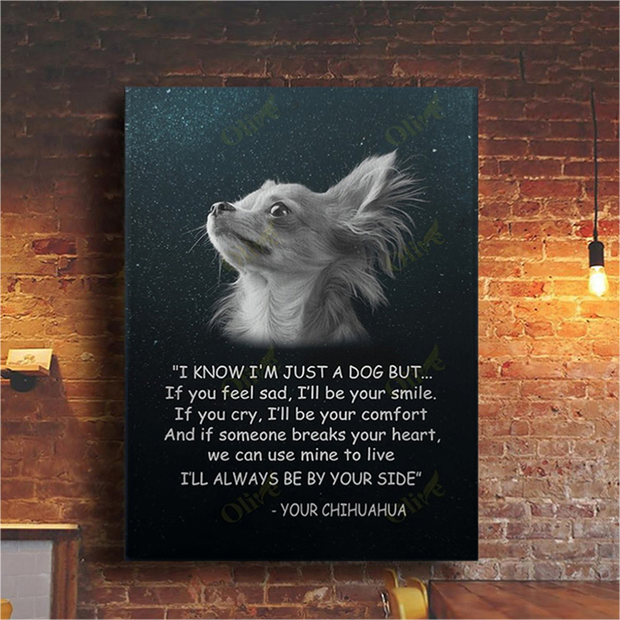 Chihuahua I know I'm just a dog but canvas prints small