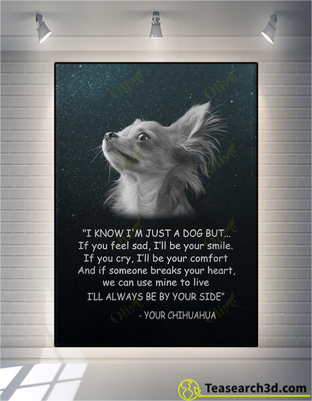 Chihuahua I know I'm just a dog but canvas prints
