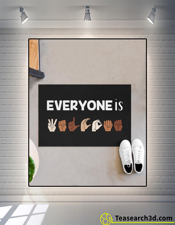 Everyone is welcome ASL doormat M