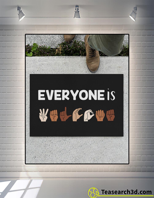 Everyone is welcome ASL doormat S