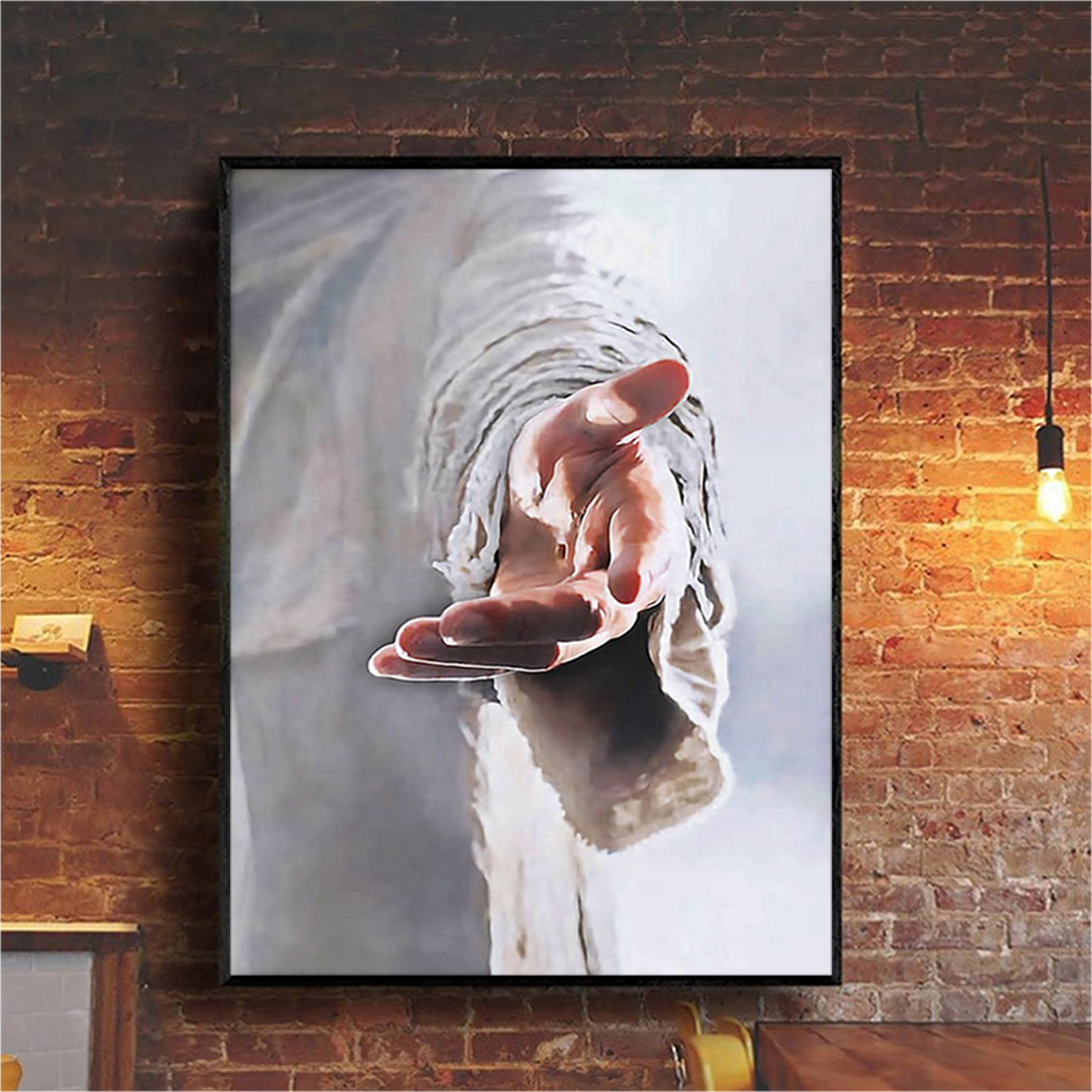 Give me your hand Jesus canvas