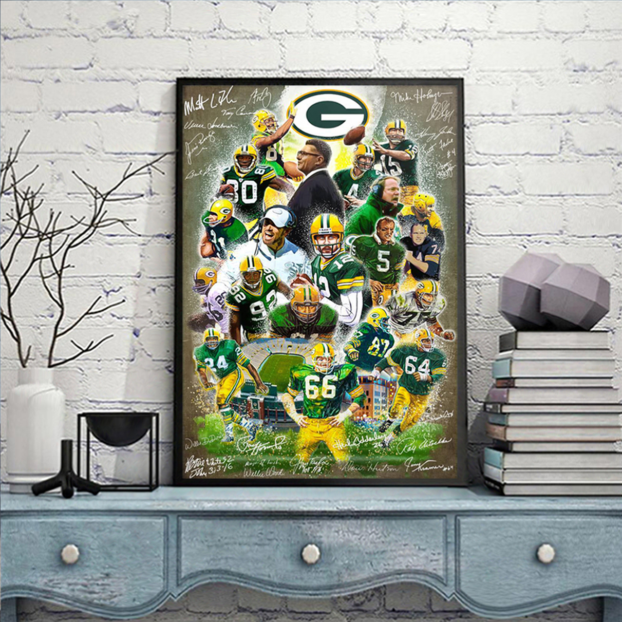 Green bay packers signature poster A2