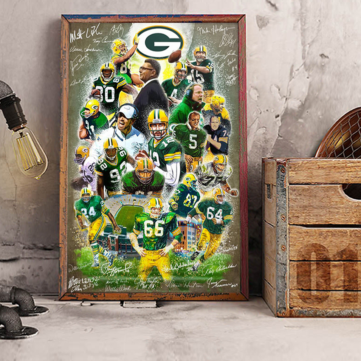 Green bay packers signature poster A3