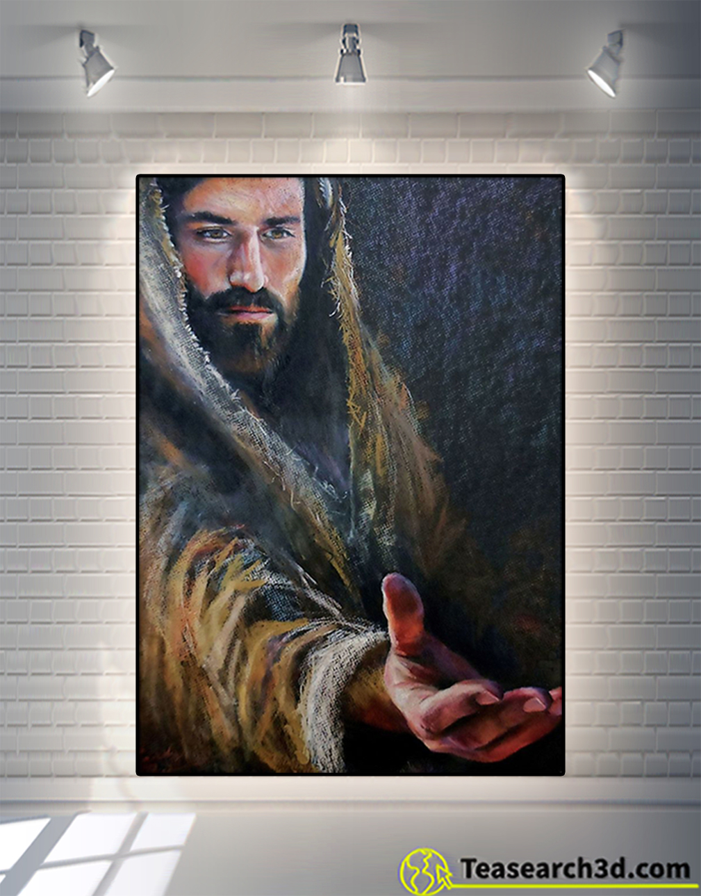 Jesus give me your hand he loves you poster