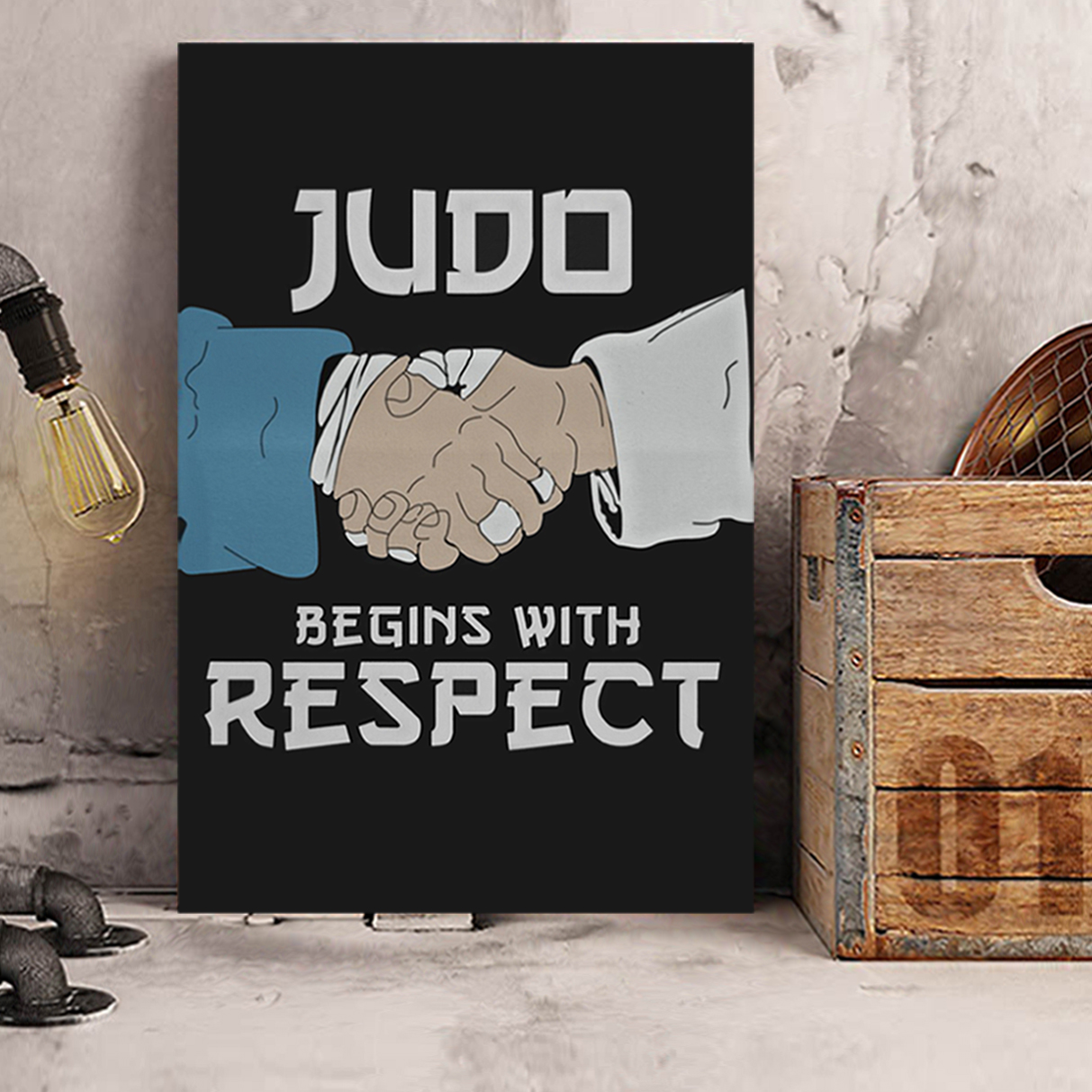 Judo begins with respect canvas prints small