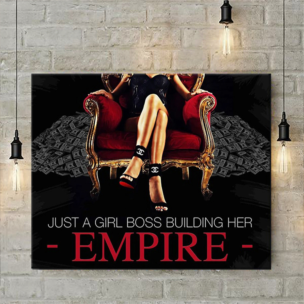 Just a girl boss building her empire poster A1