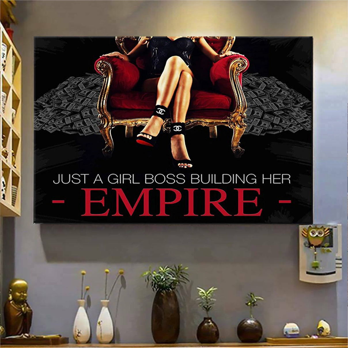 Just a girl boss building her empire poster A2