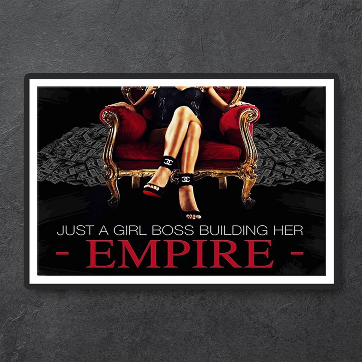 Just a girl boss building her empire poster A3