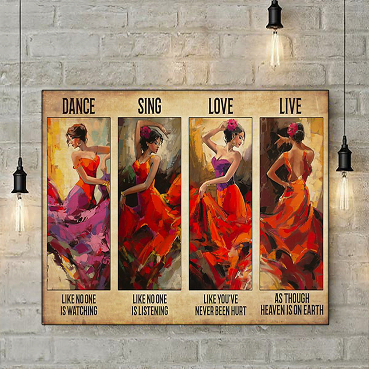Latin dance sing love live poster A3