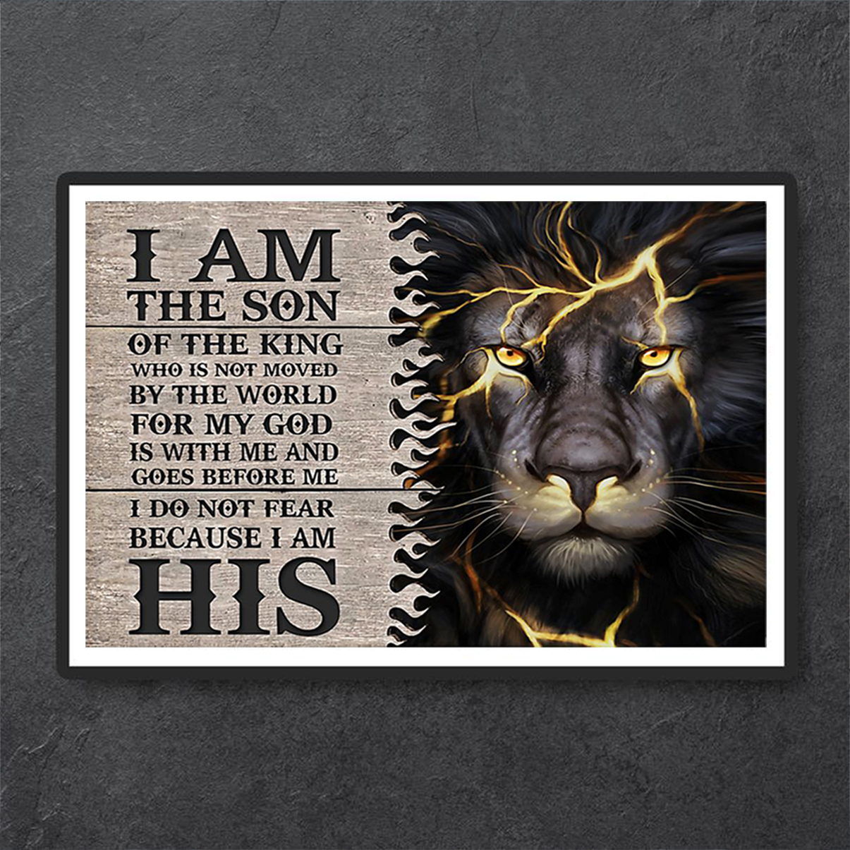 Lion thunder I am the son of the king poster A1
