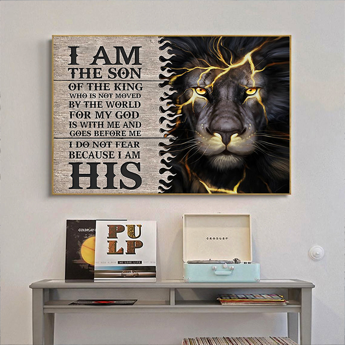 Lion thunder I am the son of the king poster A2