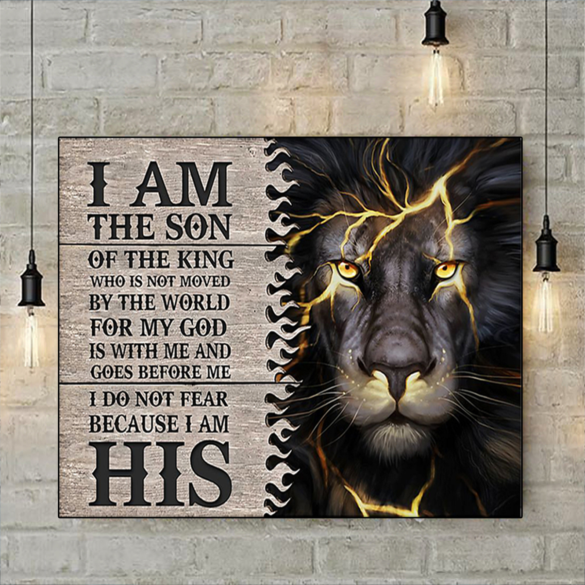 Lion thunder I am the son of the king poster A3