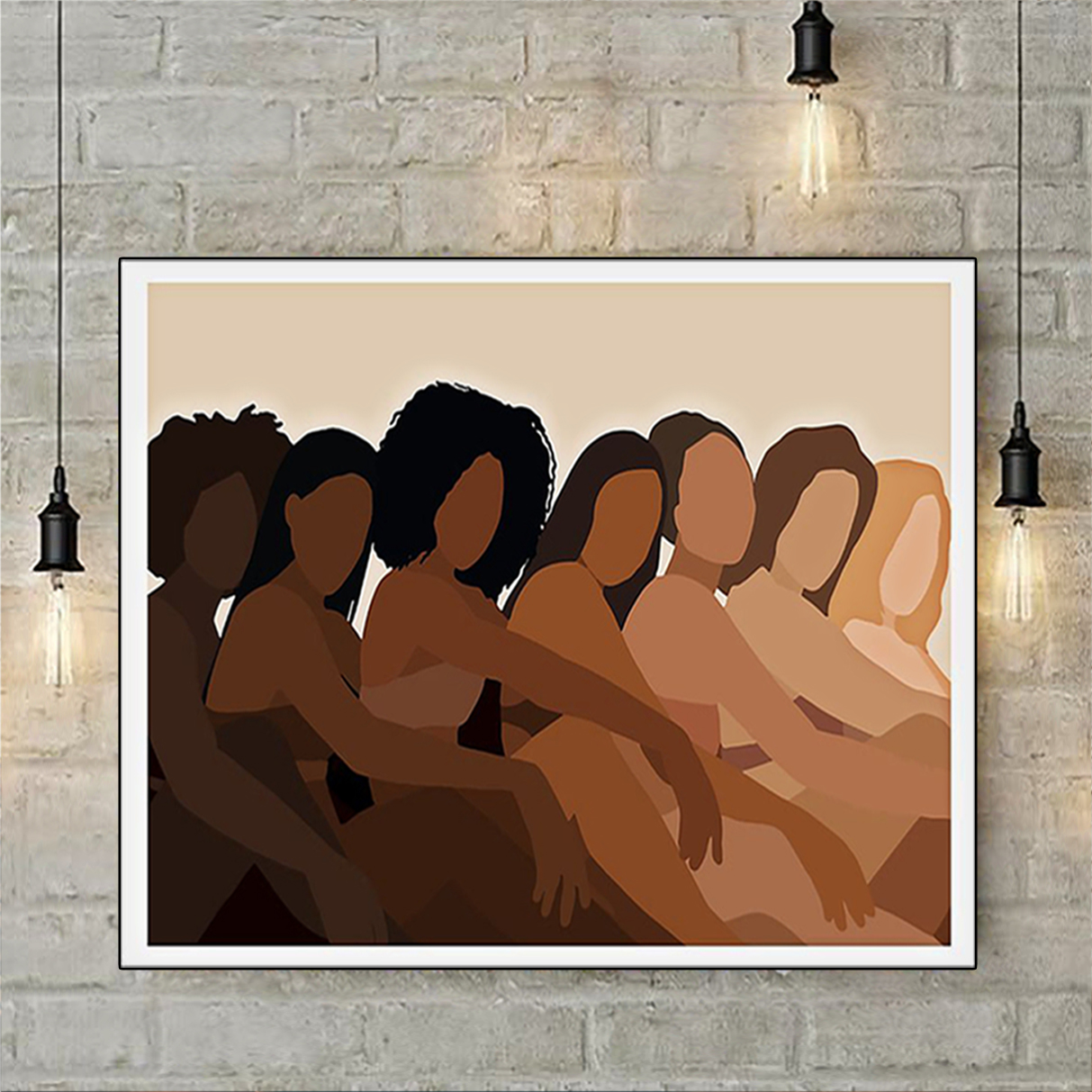 Melanin black woman poster A1