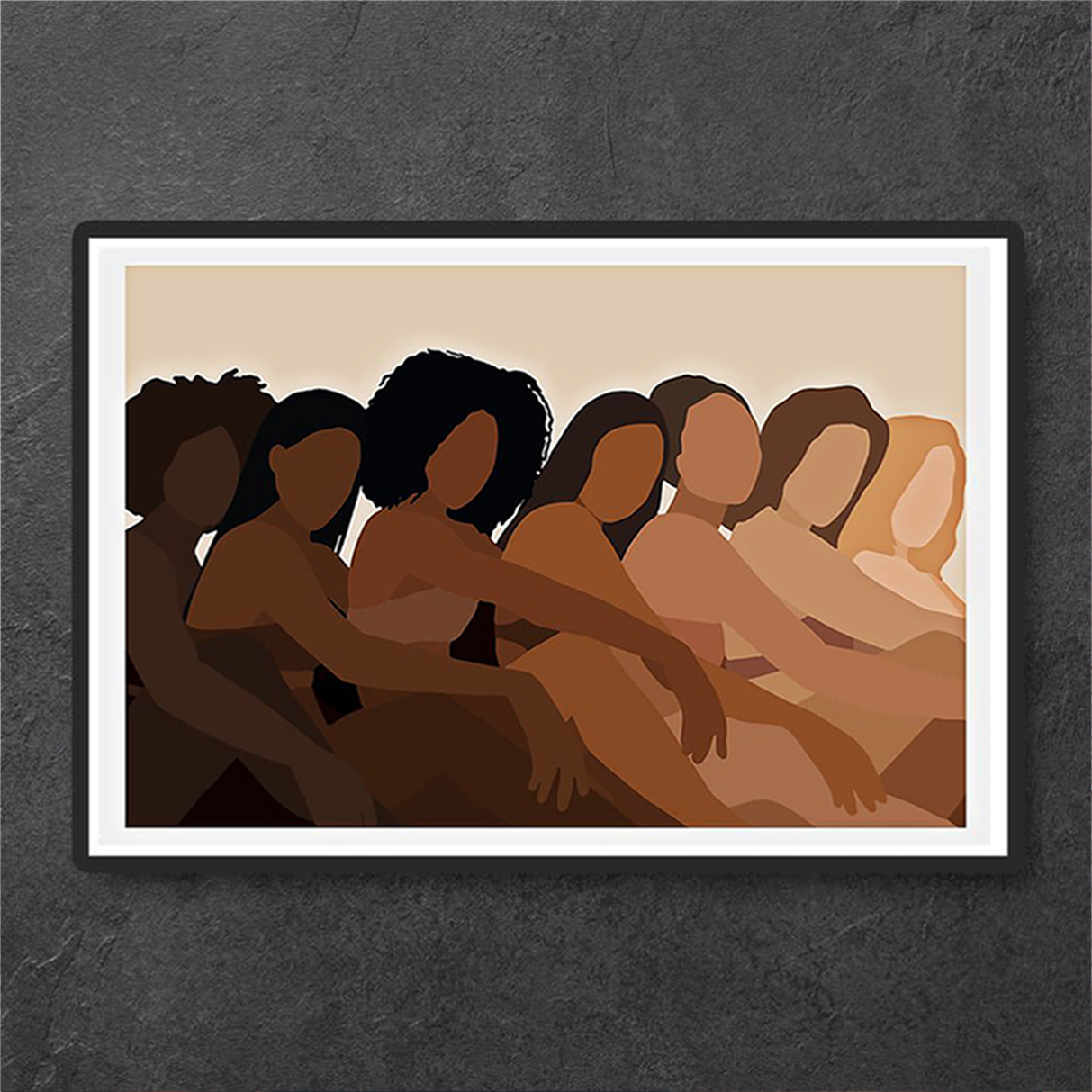 Melanin black woman poster A3