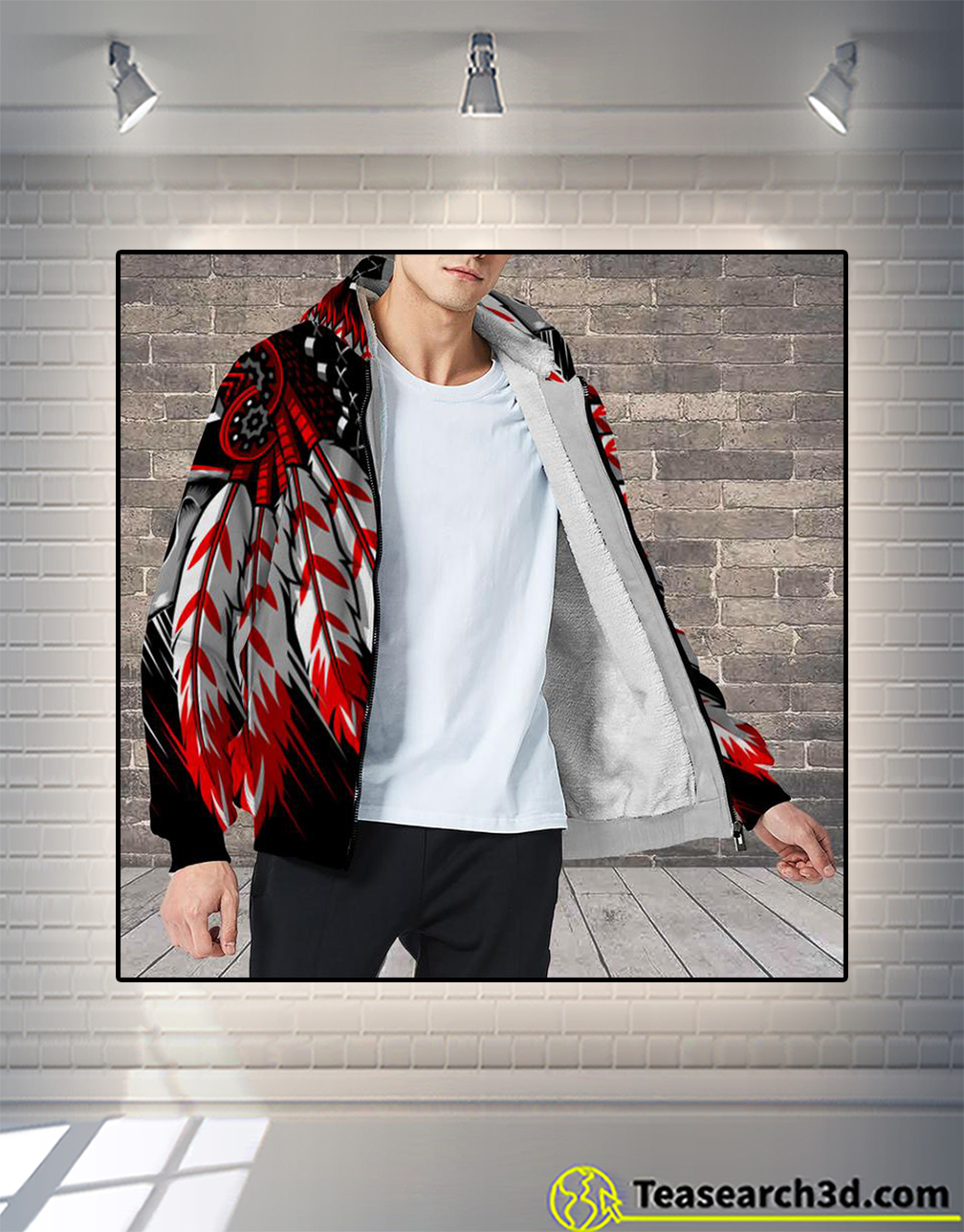 Native american indian chief skull 3d all over printed hoodie size L