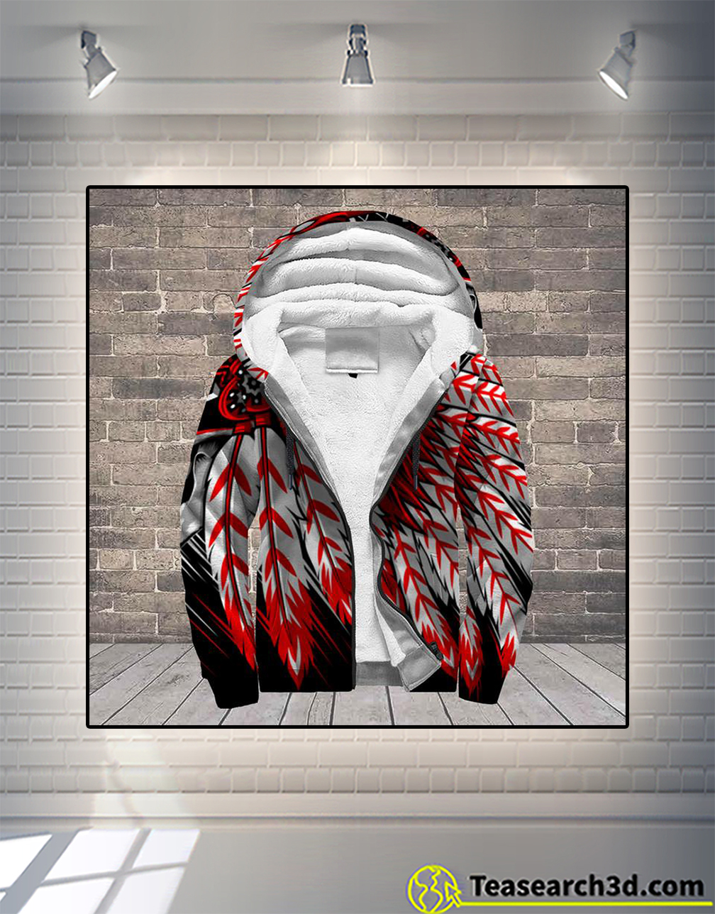 Native american indian chief skull 3d all over printed hoodie size M