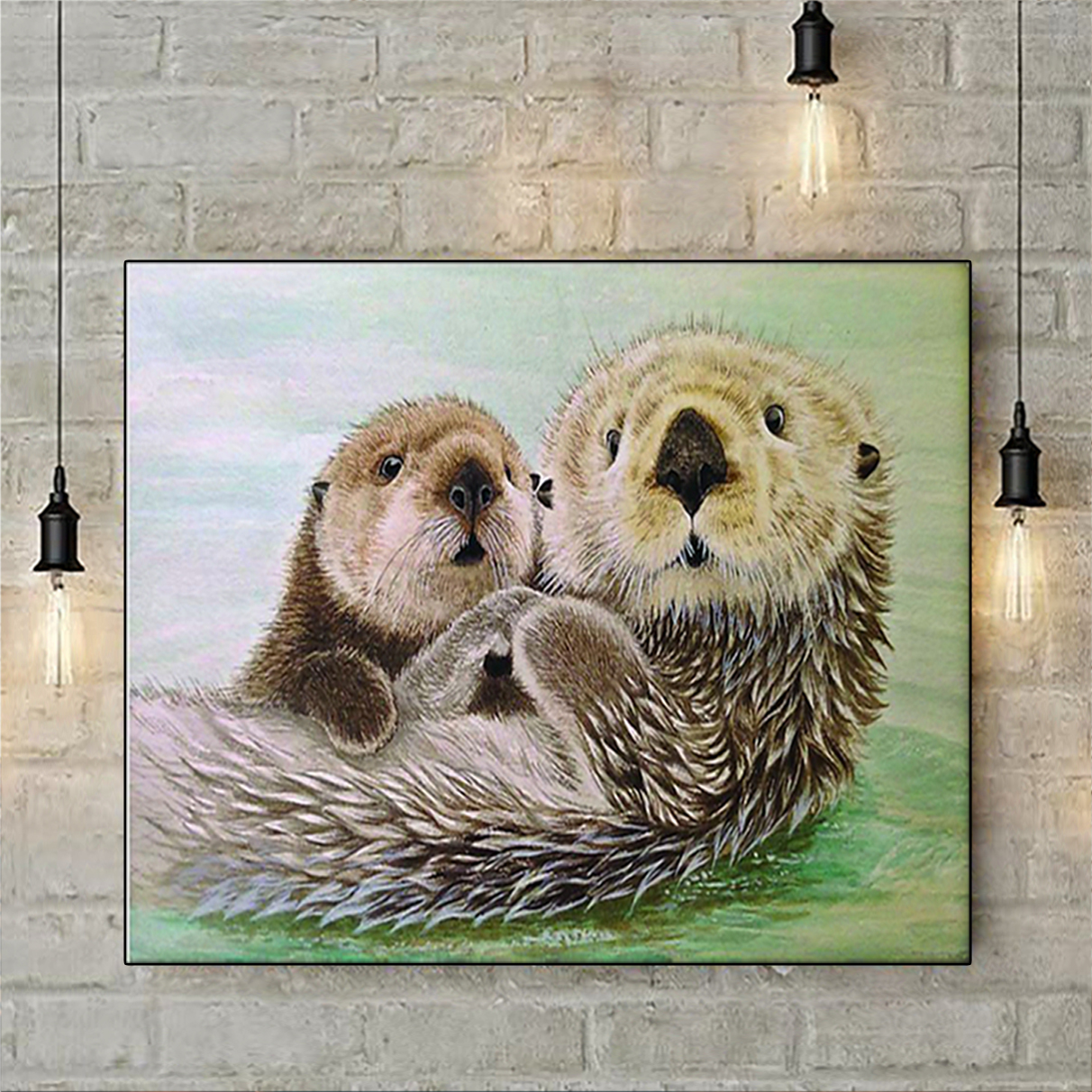 Otter poster and canvas prints large