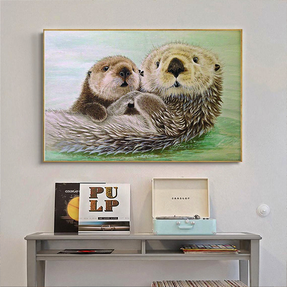 Otter poster and canvas prints medium