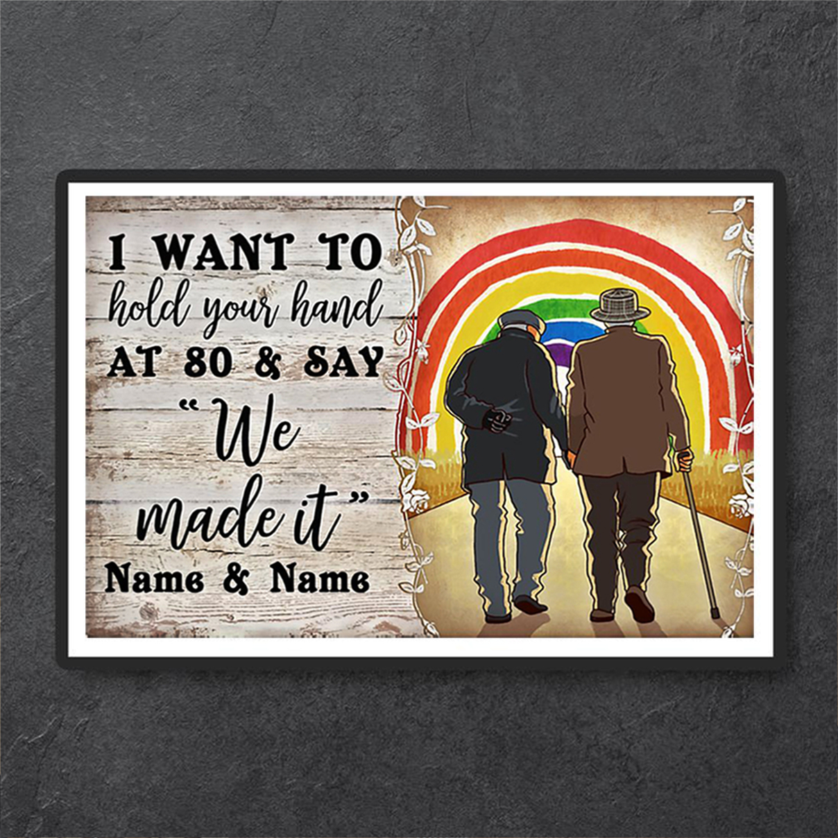 Personalized custom name LGBT We made it poster A1