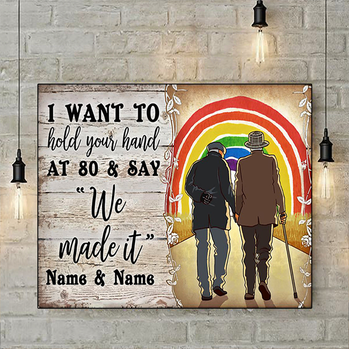 Personalized custom name LGBT We made it poster A3