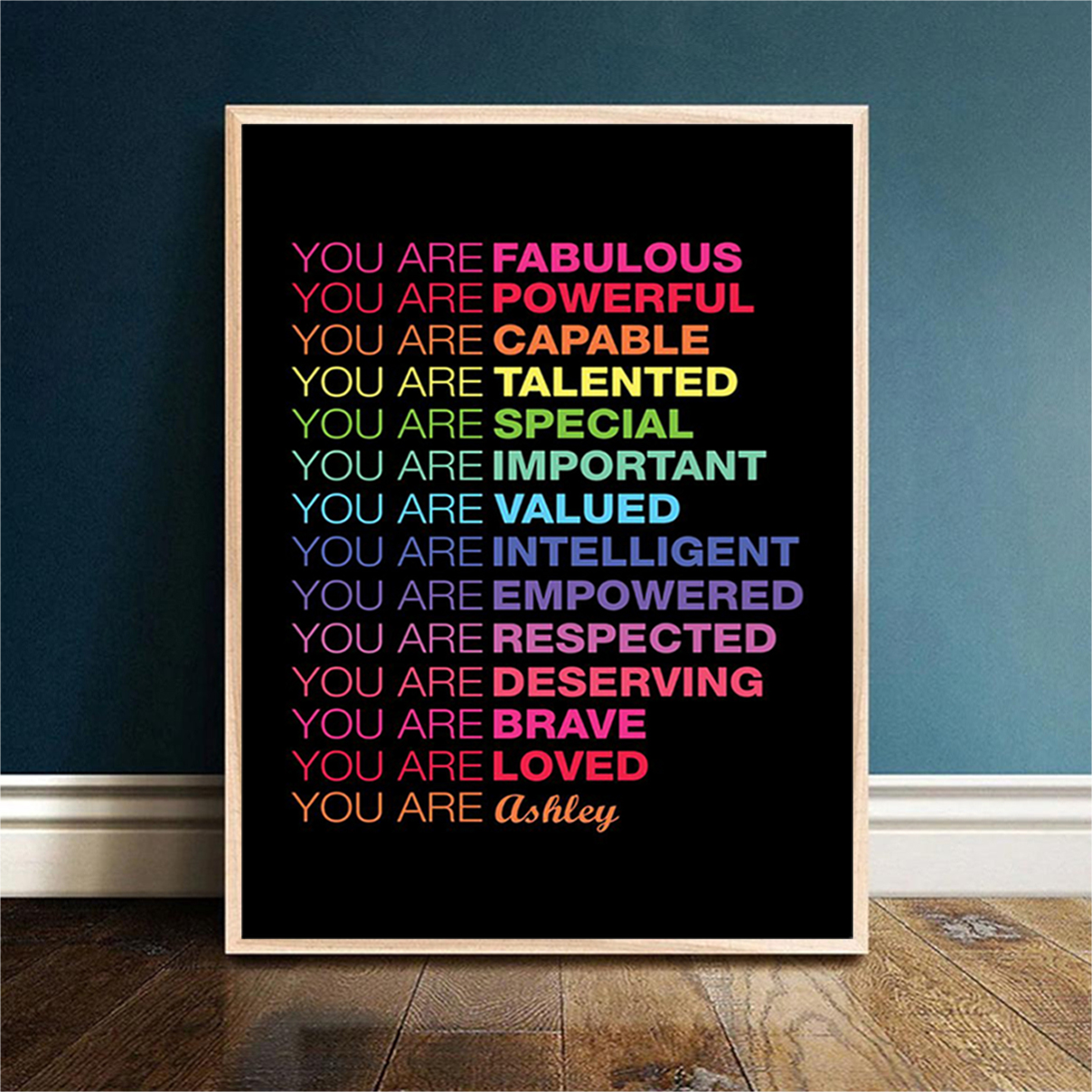 Personalized custom name You are fabulous you are powerful poster A2